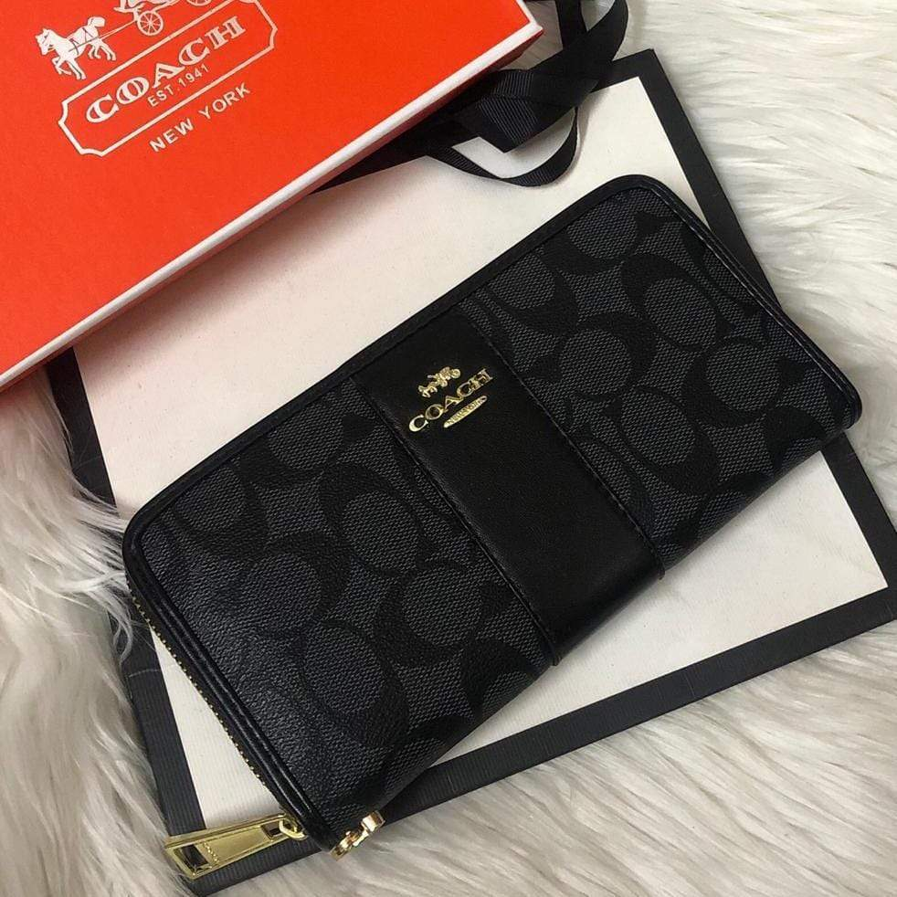 First Copy Coach Latest Edition Black Colour Wallet