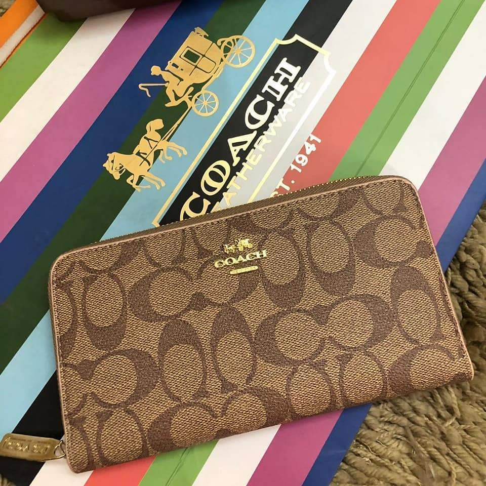 First Copy Coach Latest Edition Camel Colour Wallet
