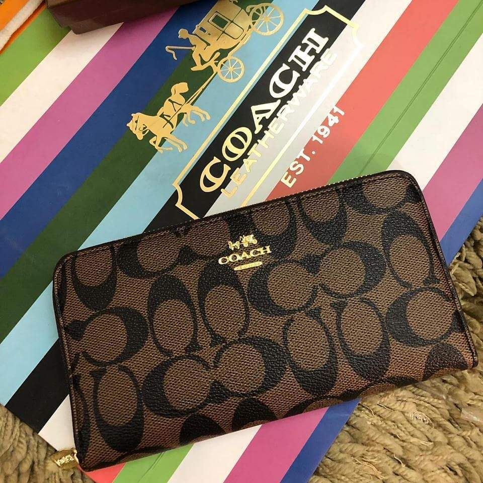 First Copy Coach Latest Edition Coffee Colour Wallet