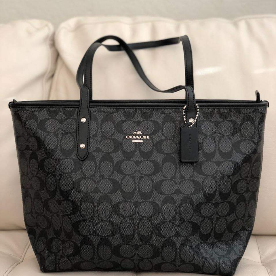 First Copy Coach Neverfull Black Color Tote Bag