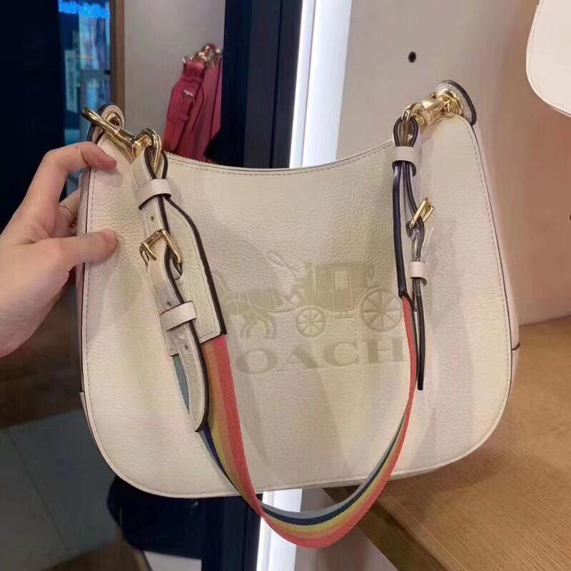 Coach White Leather Sling Bag First Copy