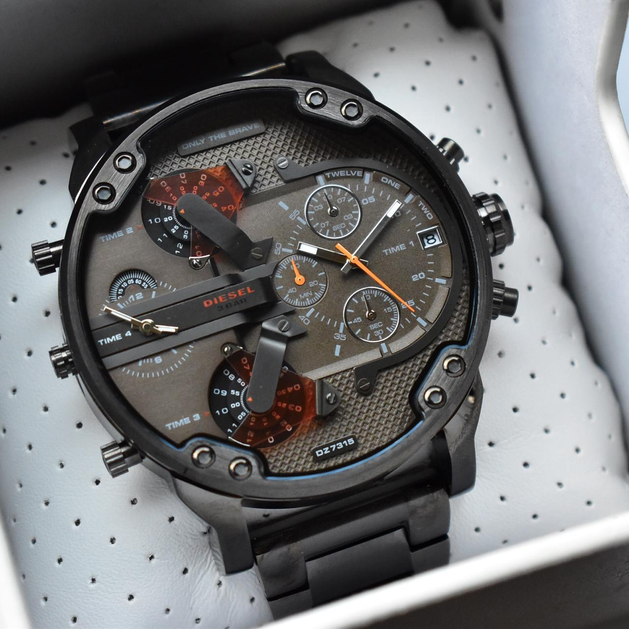 Diesel Big Daddy DZ-7315 Gunmetal Bracelet Men's Watch First Copy