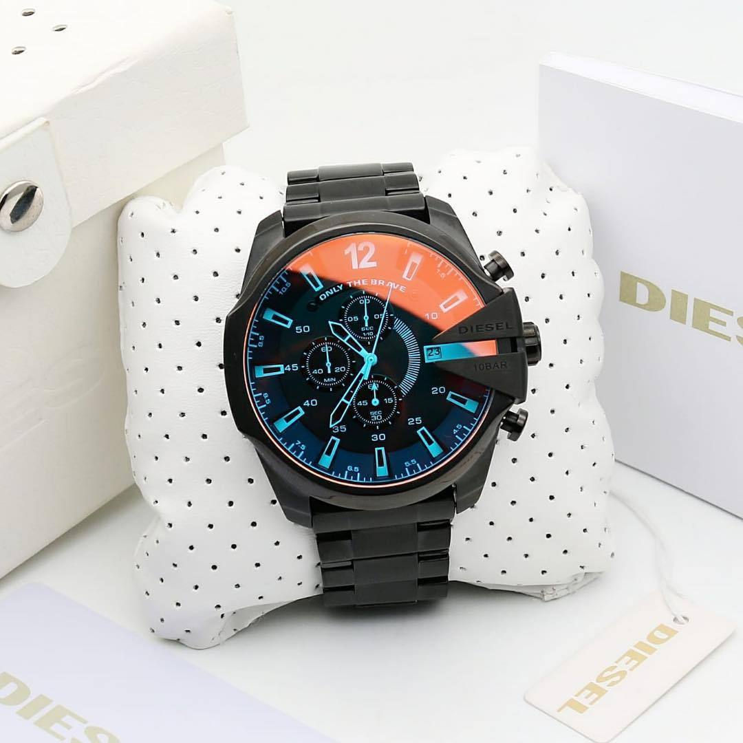 Diesel Black Dial Black Bracelet Men's Watch First Copy