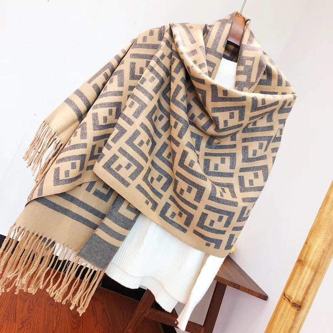 Fendi Super Soft Woolen Khaki Colour Stole First Copy
