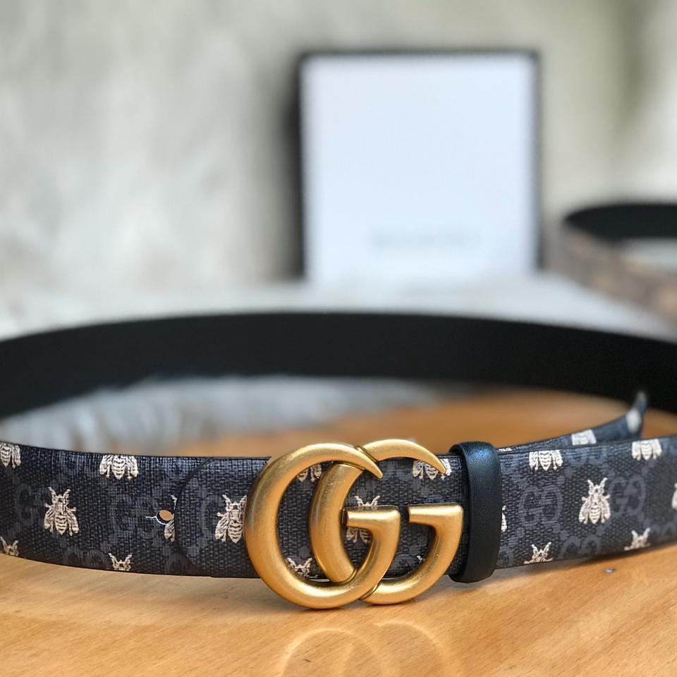 Gucci GG Bee Black Color Ladies Belt 1st copy Gucci#GG#STRIGHT