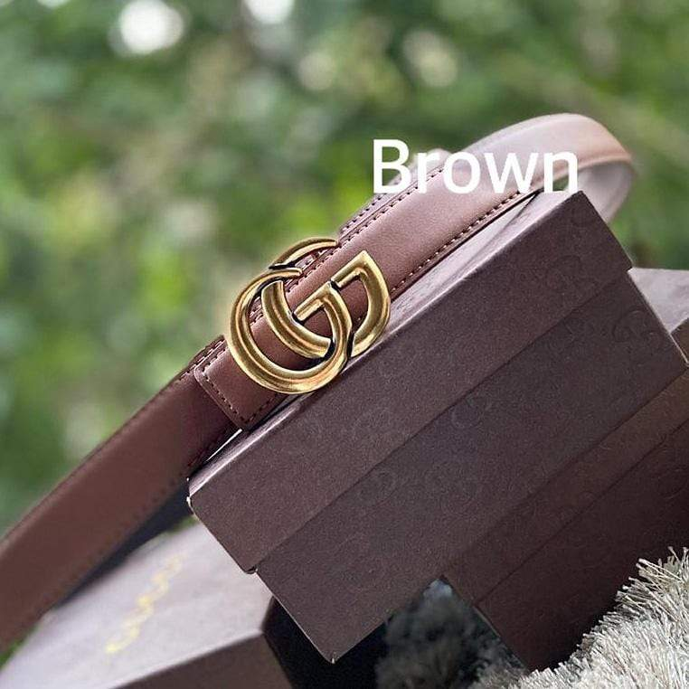 Gucci GG Brown Ladies Belt 1st copy Gucci#GG#STRIGHT