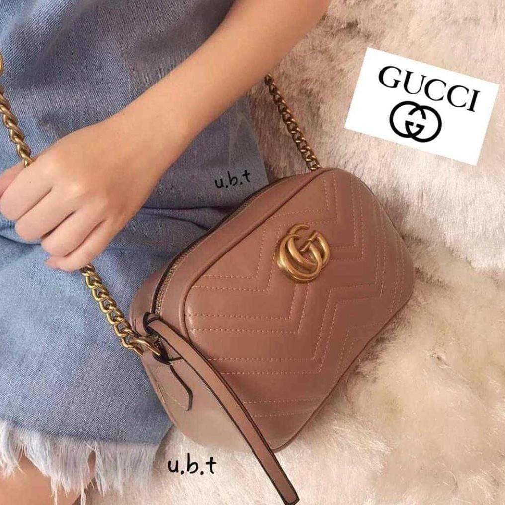 GUCCI GG MARMONT 2.0 TAN SLING BAG First Copy