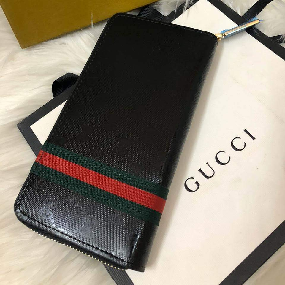 Gucci Pattern Black Wallet First Copy