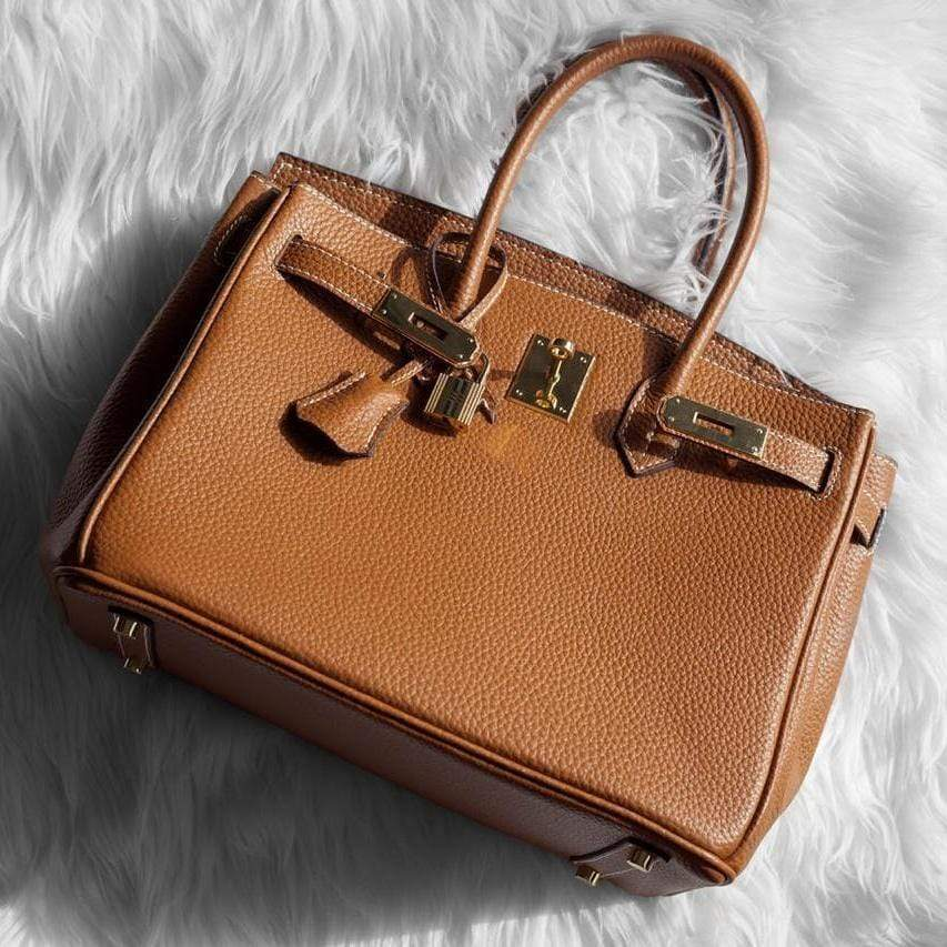 Hermes Birkin Brown Colour Hand Bag First Copy