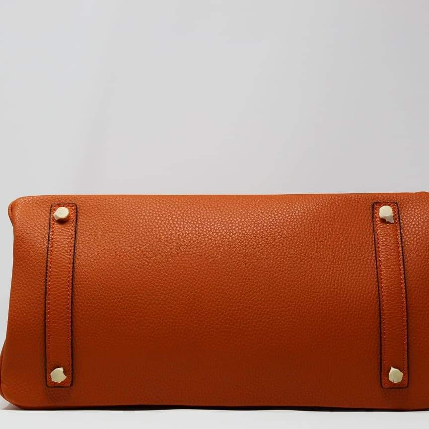 First Copy Hermes Birkin Orange Colour Hand Bag