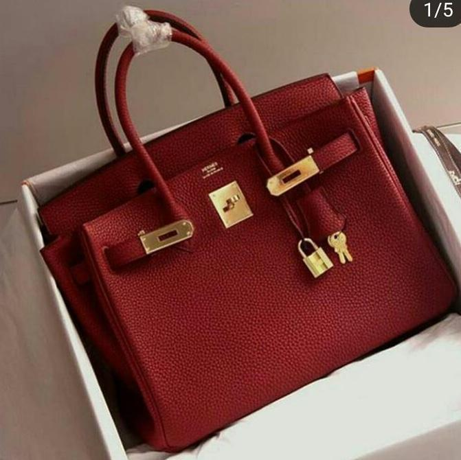 Hermes Birkin Red Colour Hand Bag First Copy