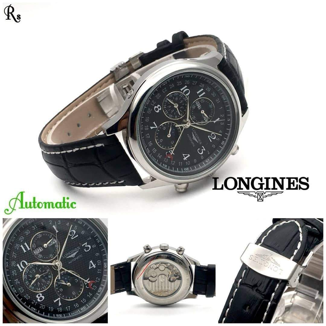 Longines Master Collection Calender Black Men's Watch 1st copy