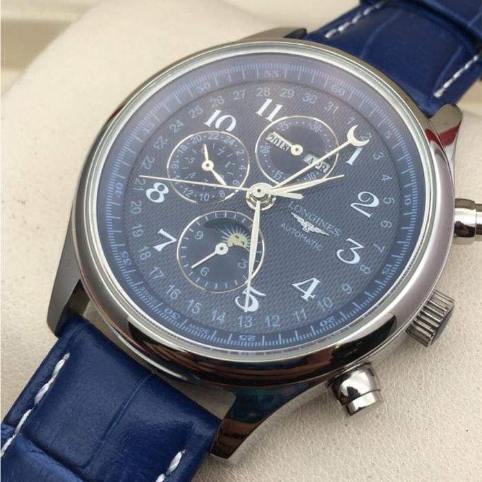 Longines Master Collection Calender Blue Men's Watch First Copy