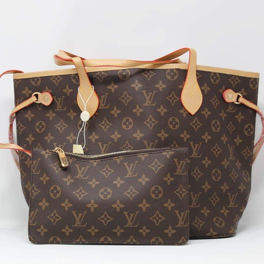 First Copy Louis Vuitton NEVERFULL Monogram Hand Bag With Wallet