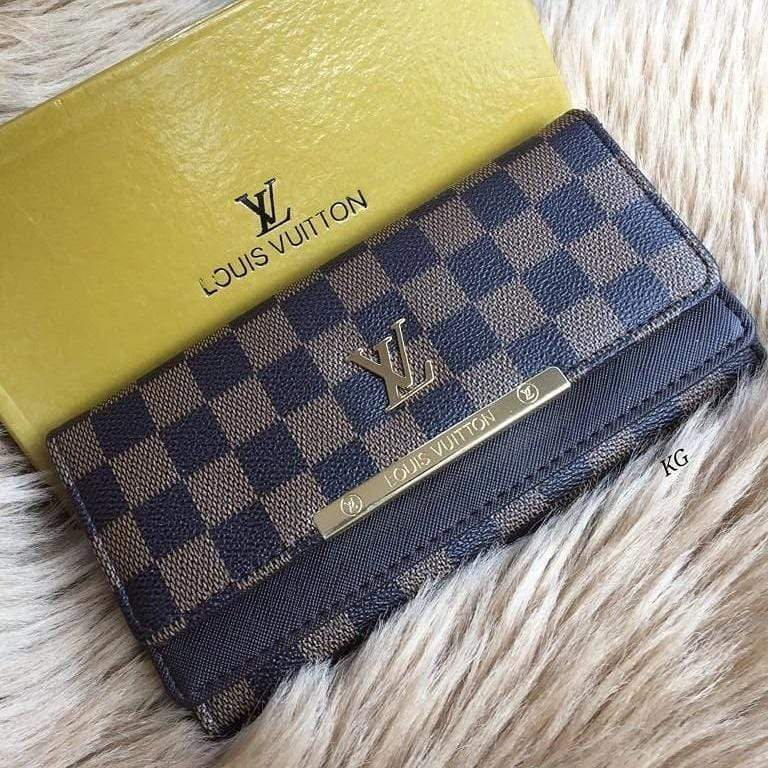 LV(Louis Vuitton) 3 Fold Check Wallet First Copy