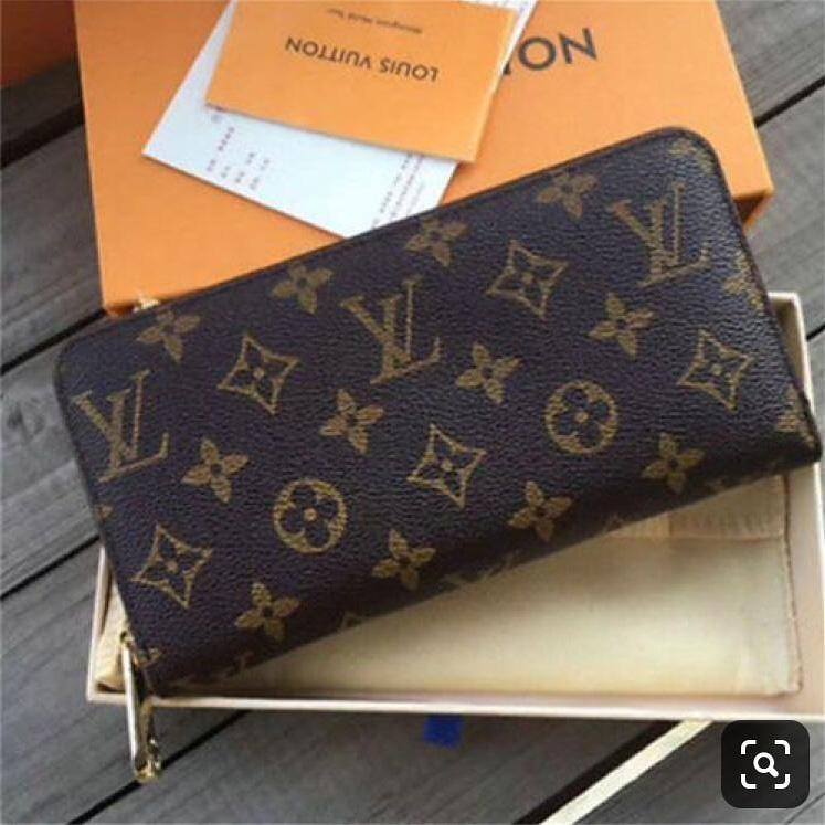 LV(Louis Vuitton) Mono Coffee Zipper Wallet First Copy
