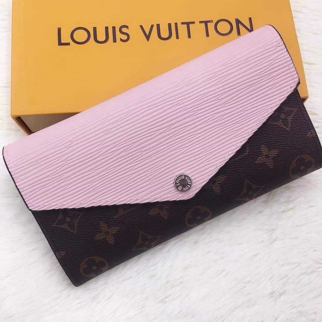 First Copy LV(Louis Vuitton) Mono Pink Wallet