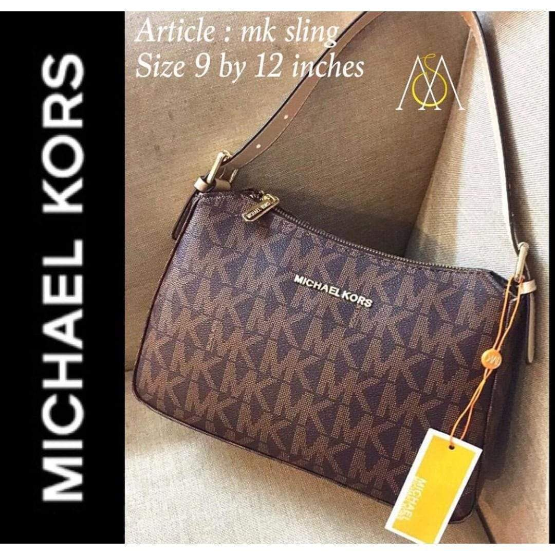 First Copy Michael Kors Coffee Colour Small Handy Sling Bag