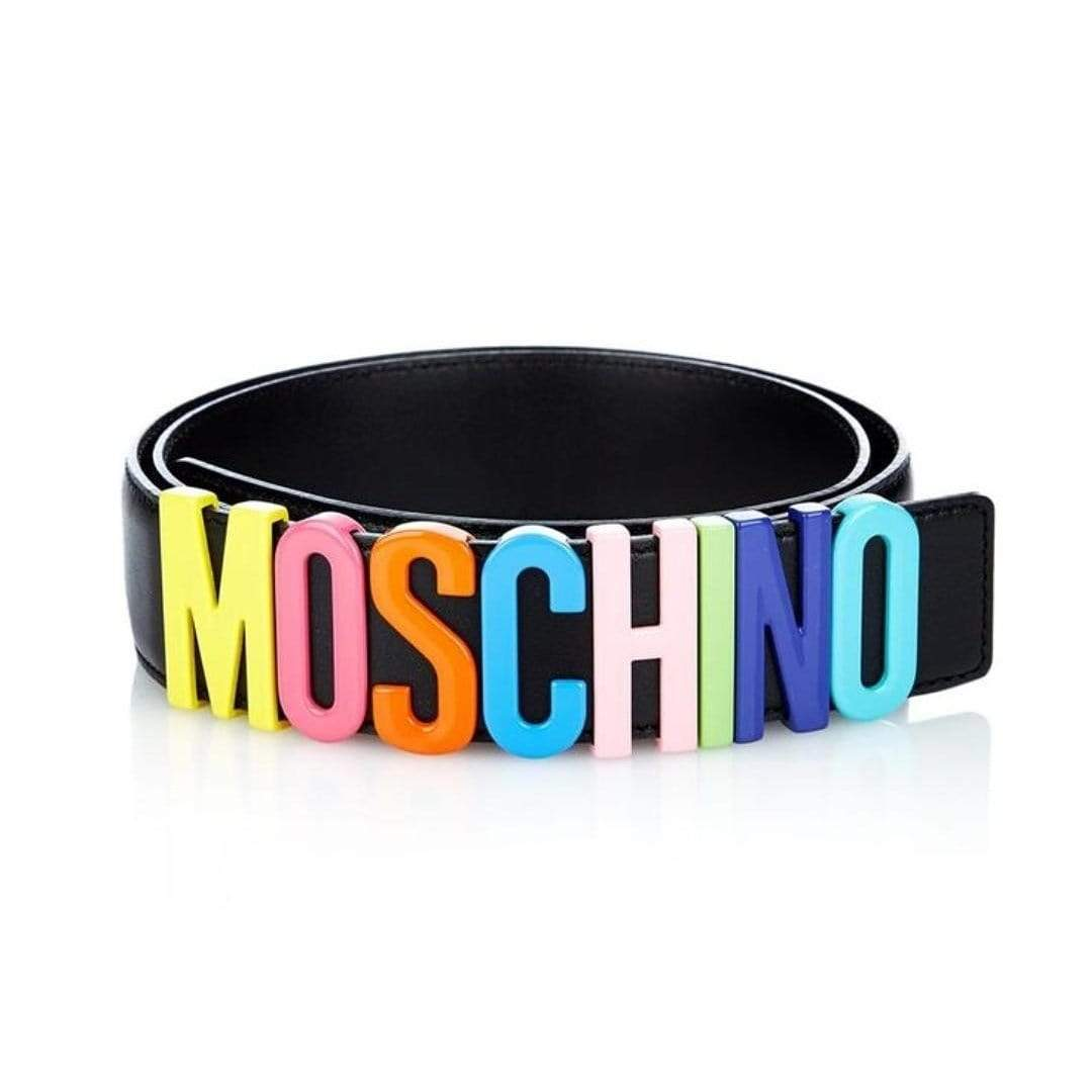Moschino Rainbow Black Colour  Ladies Belt 1st copy Gucci#GG#STRIGHT