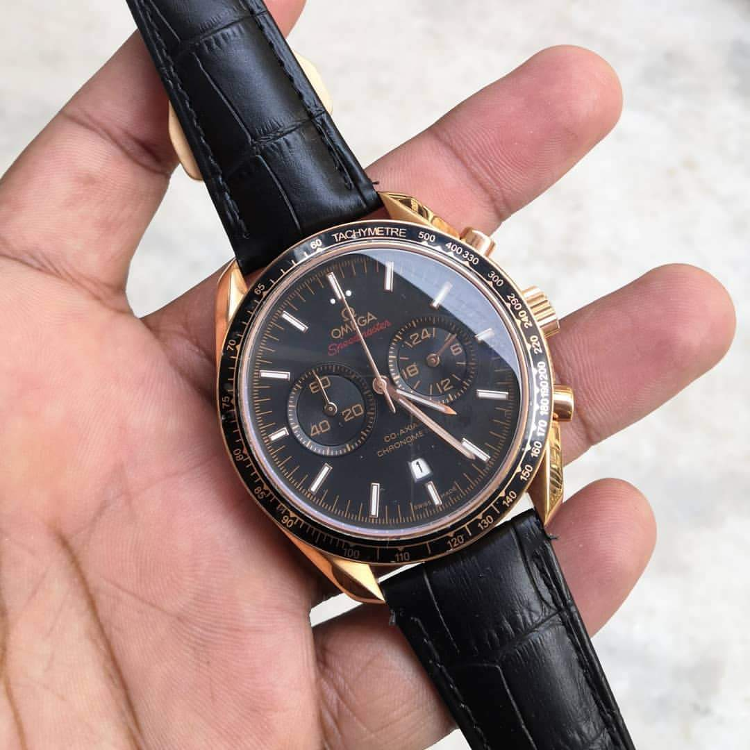 First Copy Omega Seamaster Black Co-axial Men's Watch
