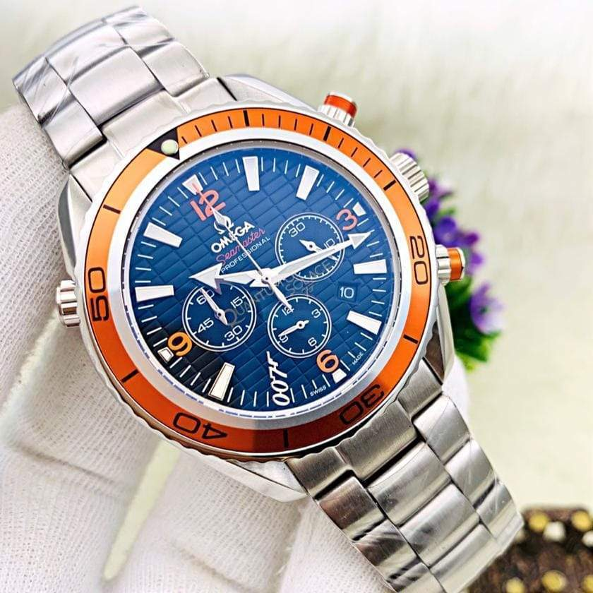 Omega Seamaster Crystal Sapphire Glass Silver Bracelet Men's Watch 1st copy