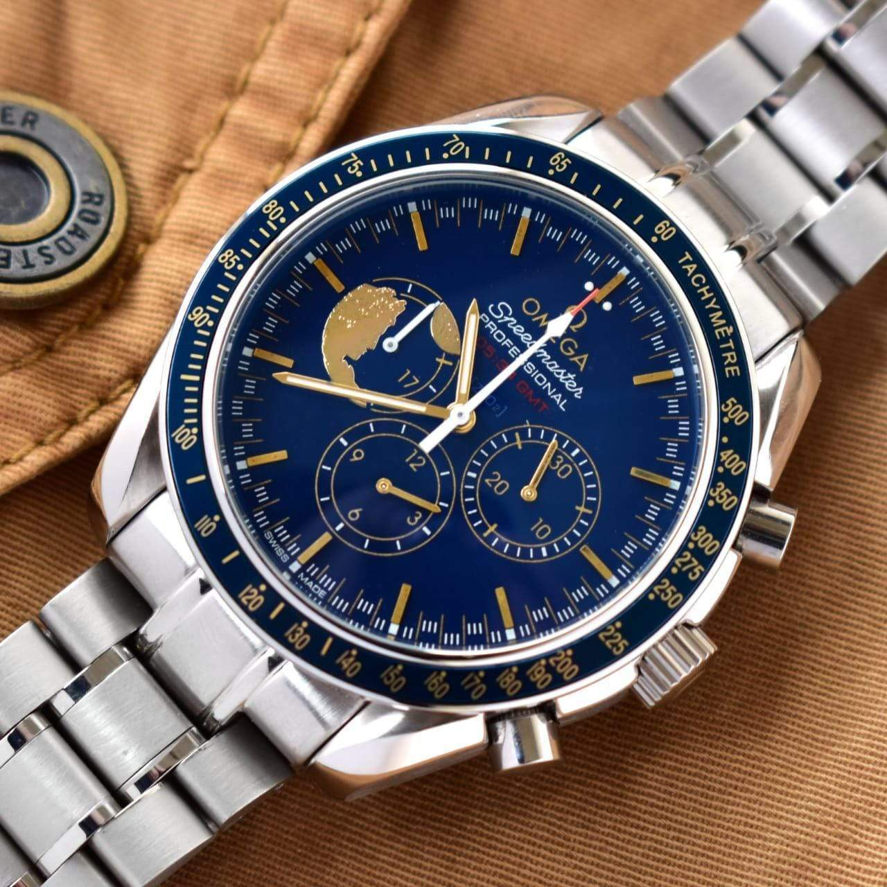 Omega Speedmaster Apollo 17 Edition Bracelet Men's Watch First Copy