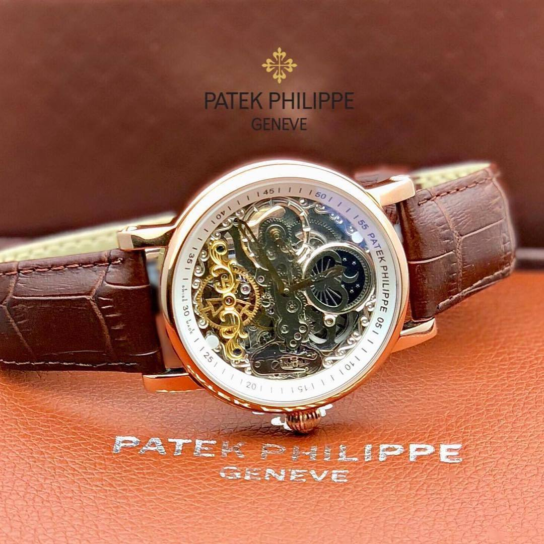 Patek Philippe White Transparent Dial Men's Watch First Copy