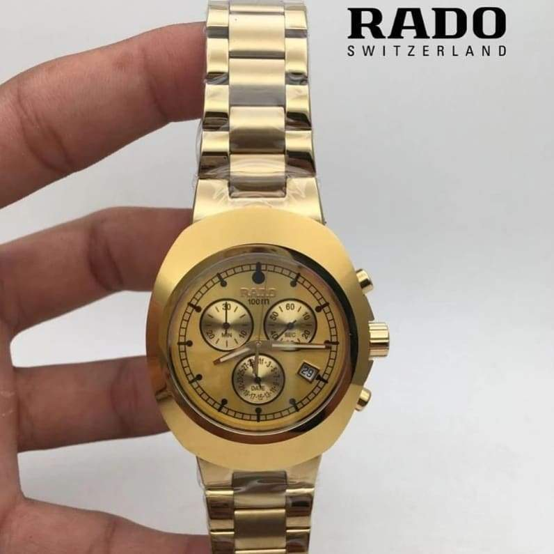 Rado Gold Dial Gold tone Bracelet Men's Watch First Copy