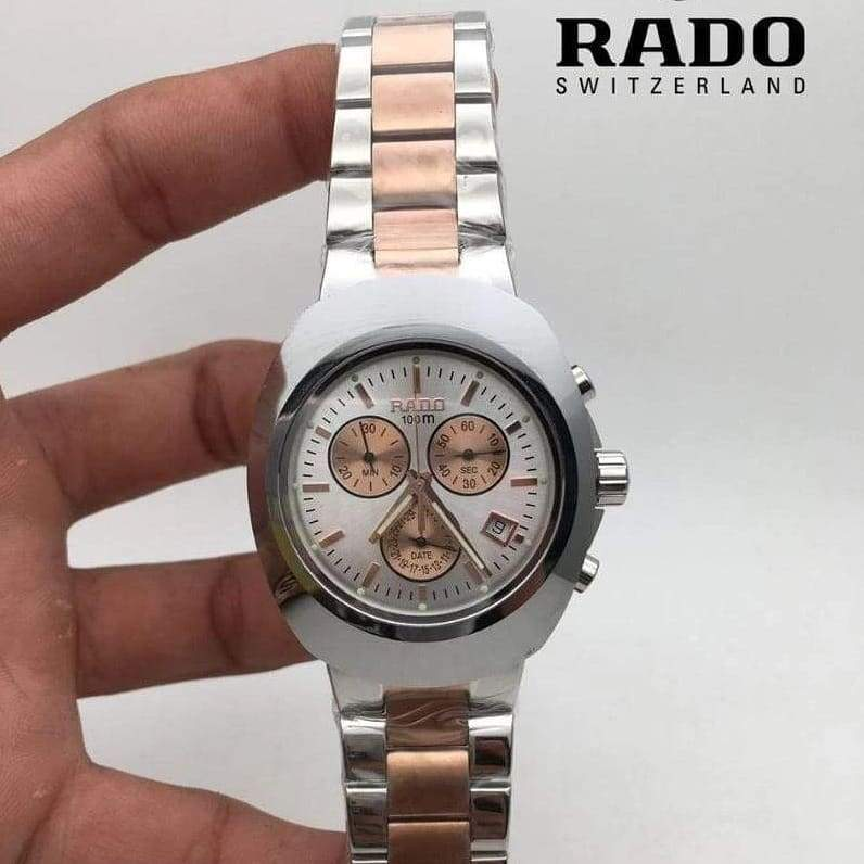 Rado White Transparent Dial Rosegold Bracelet Men's Watch First Copy