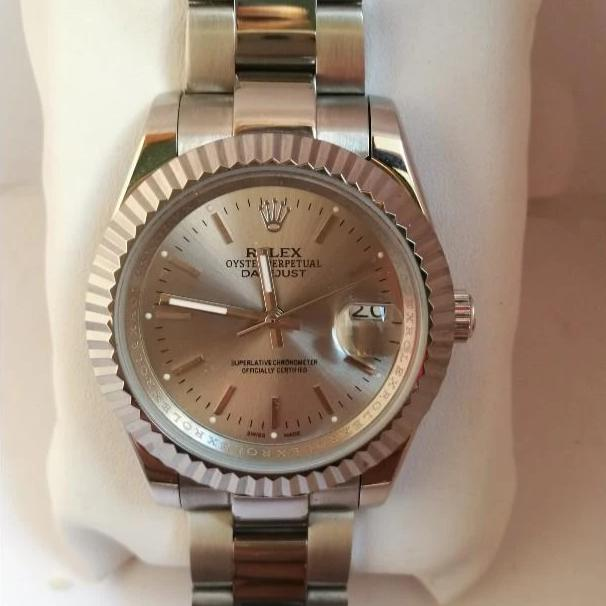 Rolex Oystar Silver Dial Silver Bracelet Men's Watch First Copy