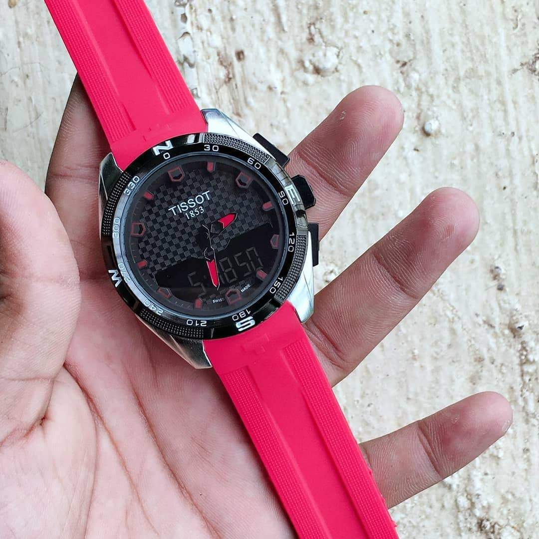 Tissot T-Touch Red Strap Men's Watch 1st copy