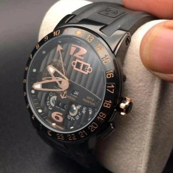 Ulysse Nardin Calender Black Colour Men's Watch First Copy