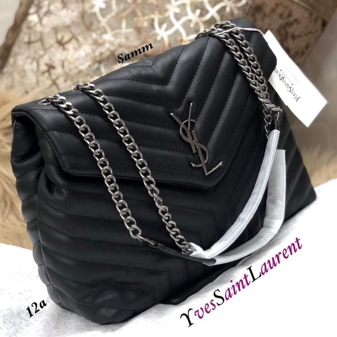 YSL Black Color Sling Bag 1st copy YSL-183#Black