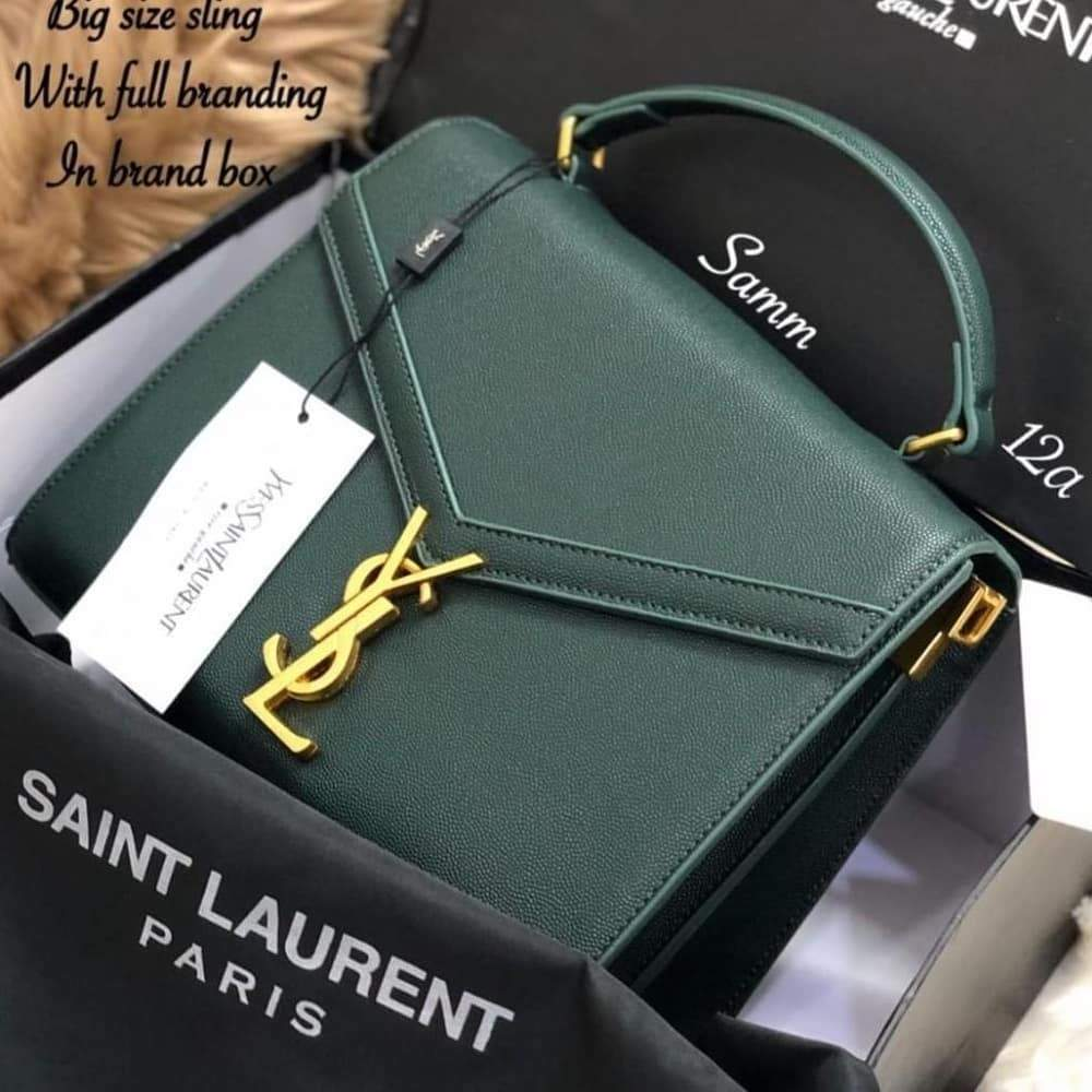 YSL Green Color Sling Bag (With Box) 1st copy 2366#Green