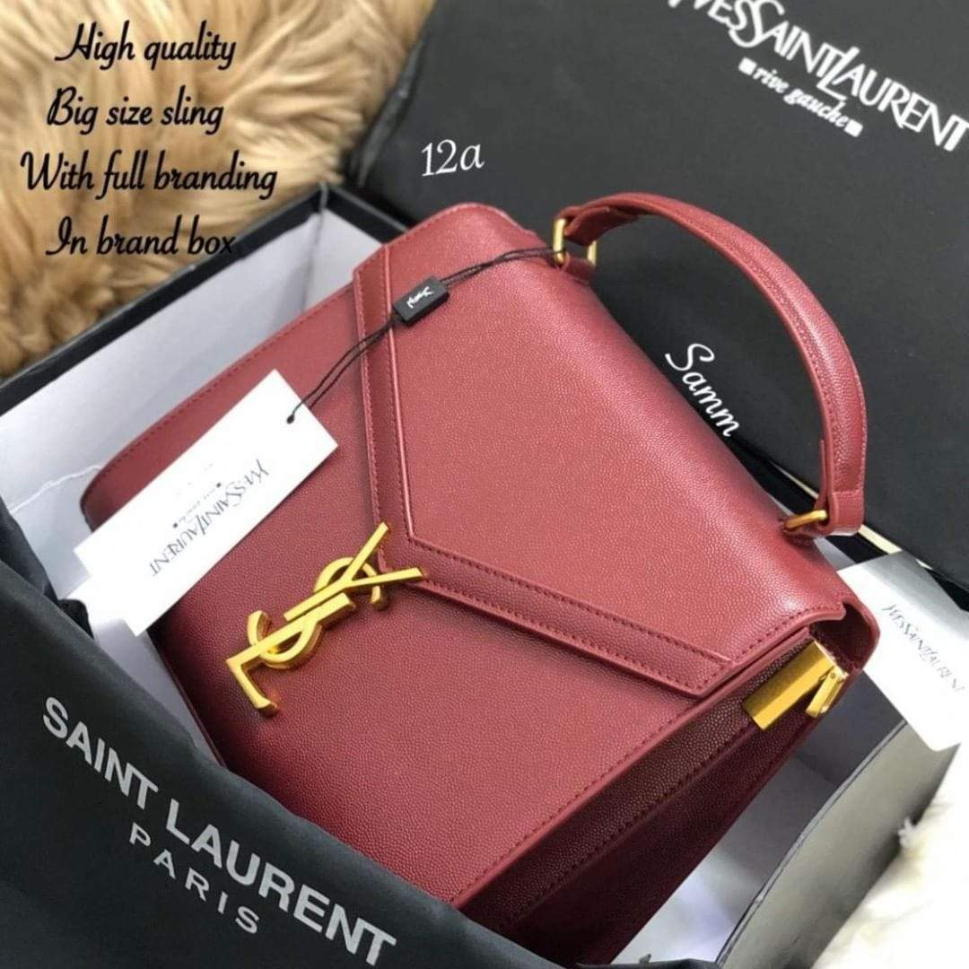 YSL Red Color Sling Bag (With Box) 1st copy 2366#Red