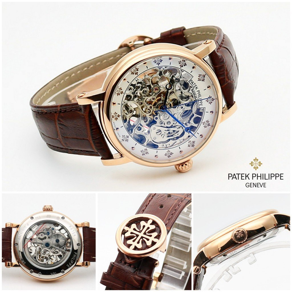 first copy Patek Philippe Geneve Rose Gold Dial Men's Watch