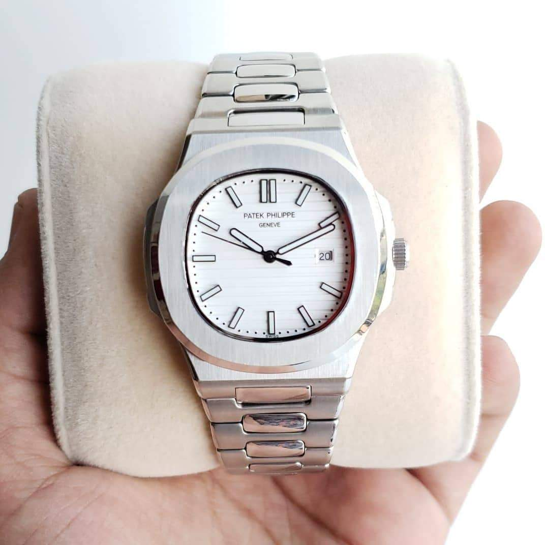 first copy Patek Philippe Geneve White Dial Men's Watch