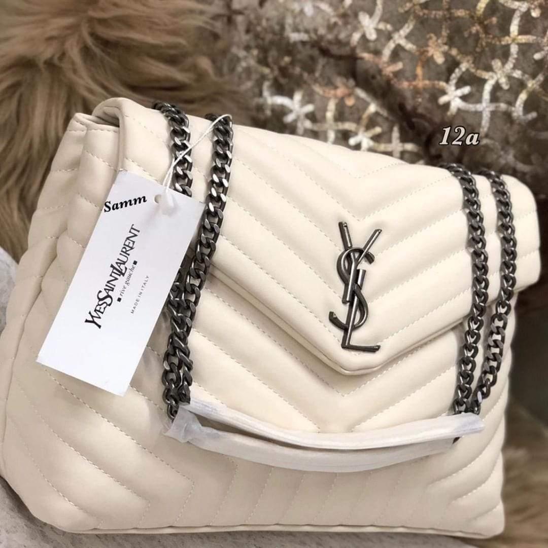 First Copy YSL Cream Color Sling Bag