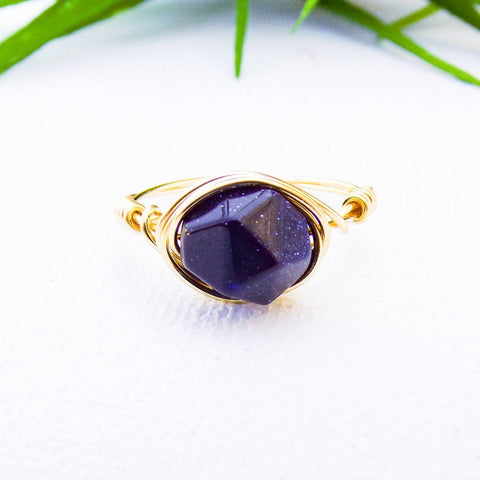 Blue Hexagon Ring | Women's Crystal Jewelry