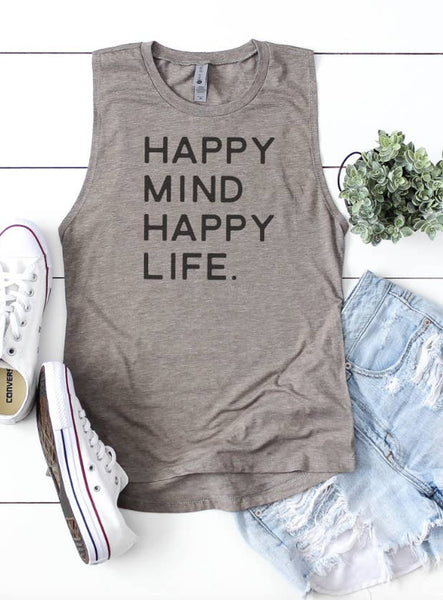 Happy Mind Happy Life | Women's Inspirational Shirts