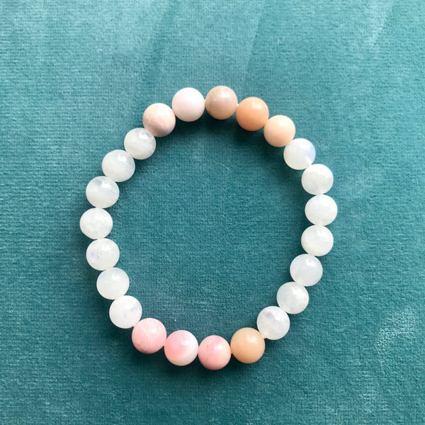 Patience Bracelet | Women's Intention Jewelry | Teal Background