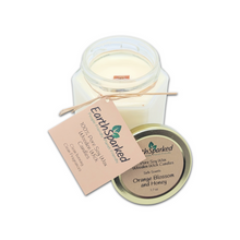 Load image into Gallery viewer, Orange Blossom and Honey Pure Soy Wax Wooden Wick Candle