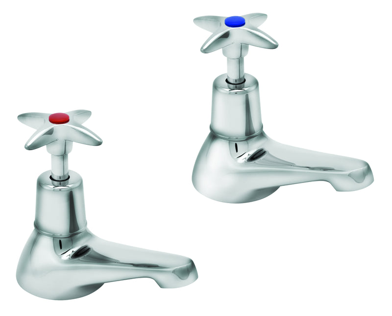 Cross handle bath taps