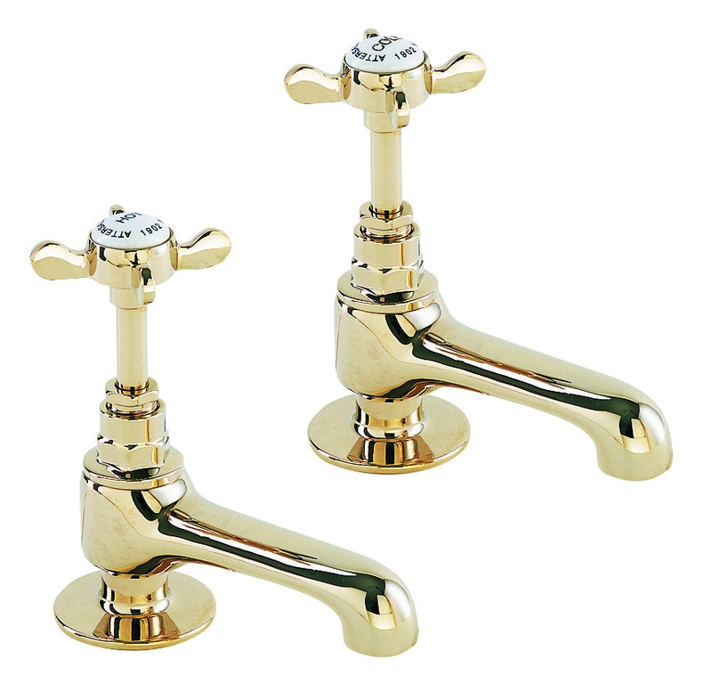 Coronation basin taps - gold