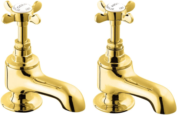 Coronation bath taps - gold