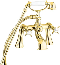 Coronation bath shower mixer - gold