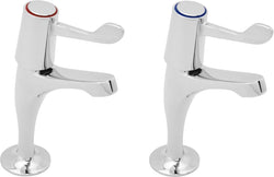 LEVER ACTION SINK TAPS with metal backnuts
