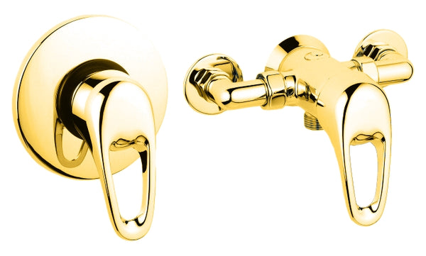Lace manual shower valve - gold
