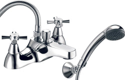 Milan deck mounted bath shower mixer