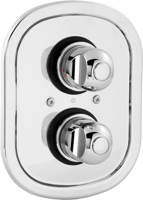 Contemporary dual control shower valve